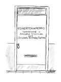 "Door with name plate ""Eggerton& Peppo-Specializing in Amicable Divorces an… - New Yorker Cartoon Premium Giclee Print by Warren Miller"