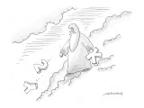 Zeus throws 'Y' '2' and 'K' down from clouds.  Refers to the Year 2000 com… - New Yorker Cartoon Premium Giclee Print by Mick Stevens