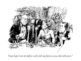 """""""I just hope I can do half as well with my future as you did with yours."""" - New Yorker Cartoon Premium Giclee Print by William Hamilton"""