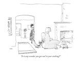 """Is it any wonder you got coal in your stocking?"" - New Yorker Cartoon Premium Giclee Print by George Booth"