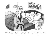 """While I'm up, can I get you anything from the imagination department?"" - New Yorker Cartoon Premium Giclee Print by J.C. Duffy"