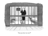 """Can you hear me now?"" - New Yorker Cartoon Premium Giclee Print by Harry Bliss"