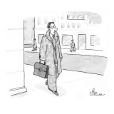 A businessman is dressed in a camouflage outfit. - New Yorker Cartoon Premium Giclee Print by Leo Cullum