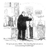 """It's up to you now, Miller. The only thing that can save us is an account…"" - New Yorker Cartoon Premium Giclee Print by Robert Weber"