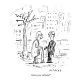 """""""How's your old lady?"""" - New Yorker Cartoon Premium Giclee Print by David Sipress"""