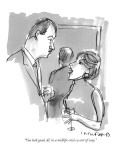 """You look good, Al, in a midlife-crisis-y sort of way."" - New Yorker Cartoon Premium Giclee Print by Michael Crawford"