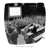 """""""I'm sorry. This section is reserved for officers."""" - New Yorker Cartoon Premium Giclee Print by Robert J. Day"""