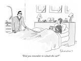 """Did you remember to whack the cat?"" - New Yorker Cartoon Premium Giclee Print by Danny Shanahan"