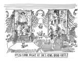 Open-Tank Night at Sal's King Krab Kastle' - New Yorker Cartoon Premium Giclee Print by Michael Crawford