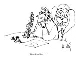 """Dear President . . ."" - New Yorker Cartoon Premium Giclee Print by William Steig"