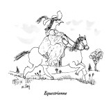Equestrienne - New Yorker Cartoon Premium Giclee Print by William Steig