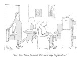 """Yoo-hoo. Time to climb the stairway to paradise."" - New Yorker Cartoon Premium Giclee Print by George Price"