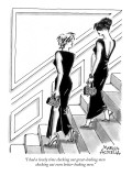 """I had a lovely time checking out great-looking men checking out even bett…"" - New Yorker Cartoon Premium Giclee Print by Marisa Acocella Marchetto"