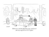 "Believe me, with the Equalizer, here, you'll never take any crap from an S…"" - New Yorker Cartoon Premium Giclee Print by Robert Mankoff"
