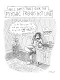 Bill Gates Takes Over The Psychic Friends Hotline - New Yorker Cartoon Premium Giclee Print by Roz Chast