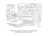 """When you get down to it, Dave, we're all about people: people helping peo…"" - New Yorker Cartoon Premium Giclee Print by Robert Mankoff"