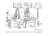"""I suppose it was very sweet and old-fashioned of him, but, still, it was …"" - New Yorker Cartoon Premium Giclee Print by Danny Shanahan"