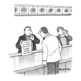 Man at bar holds sign up to bartender that reads, 'I Think My Wife Has Dug… - New Yorker Cartoon Premium Giclee Print by J.B. Handelsman