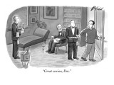 """Great session, Doc."" - New Yorker Cartoon Premium Giclee Print by Harry Bliss"