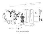 """What about accessories?"" - New Yorker Cartoon Premium Giclee Print by Michael Maslin"