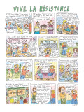 Vive La Résistance - New Yorker Cartoon Premium Giclee Print by Roz Chast