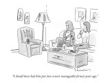 """I should have had him put into a more manageable format years ago."" - New Yorker Cartoon Premium Giclee Print by Danny Shanahan"