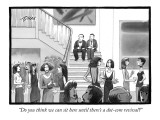 """Do you think we can sit here until there's a dot-com revival?"" - New Yorker Cartoon Premium Giclee Print by Harry Bliss"