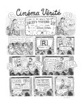 Cinéma Verité - New Yorker Cartoon Premium Giclee Print by Roz Chast