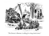 """The Farmers' Almanac is calling for a long, hard winter."" - New Yorker Cartoon Premium Giclee Print by Lee Lorenz"
