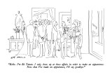 """Hello.  I'm Ed Tatum.  I only show up at these affairs in order to make a…"" - New Yorker Cartoon Premium Giclee Print by Ed Arno"