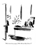 """""""Who moved my copy of 'Who Moved My Cheese'?"""" - New Yorker Cartoon Premium Giclee Print by Donald Reilly"""