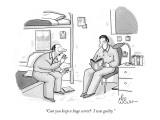 """Can you keep a huge secret?  I was guilty."" - New Yorker Cartoon Premium Giclee Print by Leo Cullum"