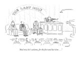 """And now let's welcome, for the first and last time . . ."" - New Yorker Cartoon Premium Giclee Print by Robert Mankoff"