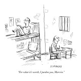 """""""For what it's worth, I pardon you, Marvin."""" - New Yorker Cartoon Premium Giclee Print by David Sipress"""