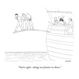 """""""You're right—things are funnier in threes."""" - New Yorker Cartoon Premium Giclee Print by Alex Gregory"""
