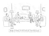 Bob + Carol + Ted + Alice: The Remake - New Yorker Cartoon Premium Giclee Print by Robert Mankoff