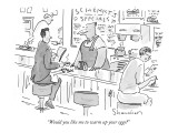 """Would you like me to warm up your eggs?"" - New Yorker Cartoon Premium Giclee Print by Danny Shanahan"