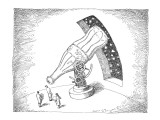 Astronomers use giant coke bottle as a telescope. - New Yorker Cartoon Premium Giclee Print by John O'brien