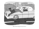 """Him?  Oh, he's the guy who owns the car."" - New Yorker Cartoon Premium Giclee Print by Peter C. Vey"