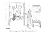 """He's pretty depressed—Ginger Spice was his favorite."" - New Yorker Cartoon Premium Giclee Print by Robert Mankoff"