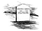 "Gravemarker in cemetery reads ""Steven Lewis1939—1999 went from zero to six… Premium Giclee Print by Stuart Leeds"