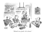 """""""Richard's not a foodie—he's a boozie."""" - New Yorker Cartoon Premium Giclee Print by Christopher Weyant"""