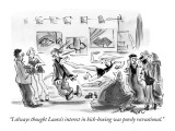 """I always thought Laura's interest in kick-boxing was purely recreational.…"" - New Yorker Cartoon Premium Giclee Print by Lee Lorenz"