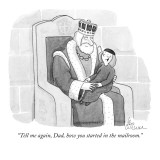 """Tell me again, Dad, how you started in the mailroom."" - New Yorker Cartoon Premium Giclee Print by Leo Cullum"