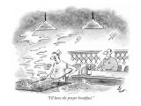 """I'll have the prayer breakfast."" - New Yorker Cartoon Premium Giclee Print by Frank Cotham"