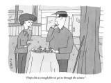 """I hope this is enough fibre to get us through the winter."" - New Yorker Cartoon Premium Giclee Print by Peter C. Vey"
