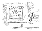 Woman passes store called: 'The Da Vinci Code Bookstore,' with another sig… - New Yorker Cartoon Premium Giclee Print by David Sipress