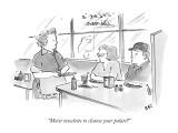 """Moist towelette to cleanse your palate?"" - New Yorker Cartoon Premium Giclee Print by Carolita Johnson"