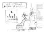 Old MacDonald Had An Optometrist - New Yorker Cartoon Premium Giclee Print by Leo Cullum