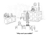 """Why won't you cuddle?"" - New Yorker Cartoon Premium Giclee Print by Robert Mankoff"